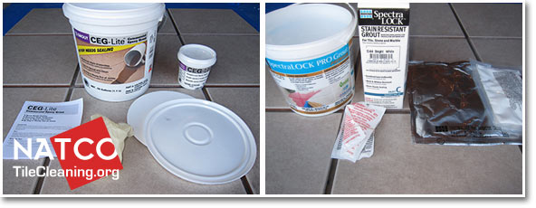 Contents Of Ceg Lite And Spectralock Stainproof Epoxy Grouts