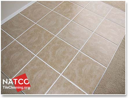 Ceramic Tile Floor With Clean Tile And