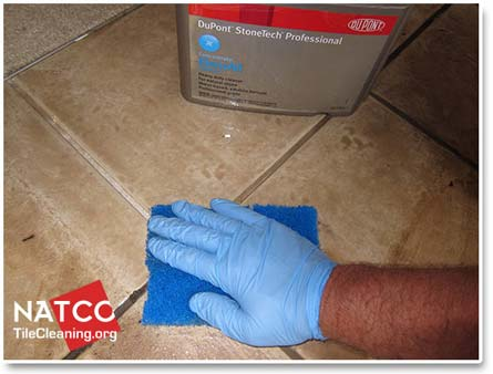 cleaning ceramic tiles with alkaline cleaner