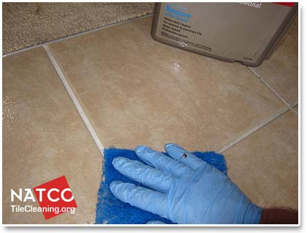 How To Clean Ceramic Tiles And The Grout Between The Tiles