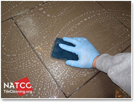 how to clean grout stains on porcelain tiles