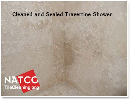 Charmant Cleaned And Sealed Travetine Shower