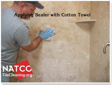 sealing travetine tile shower