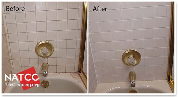 How to colorseal and restore sanded shower grout for How to clean bathroom grout mold
