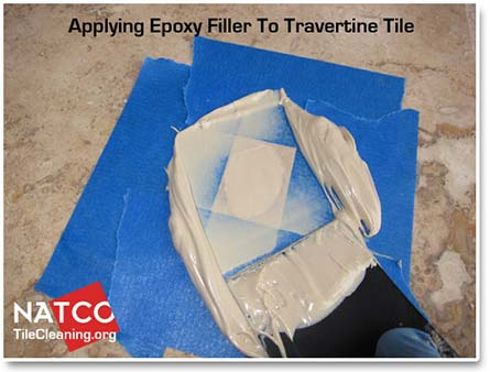 epoxy filler for filling travertine