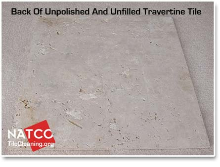 unfilled travertine tile with holes