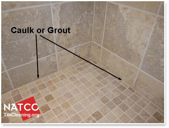 Where Should Grout And Caulk Be Installed In A Tile Shower - Caulking shower base