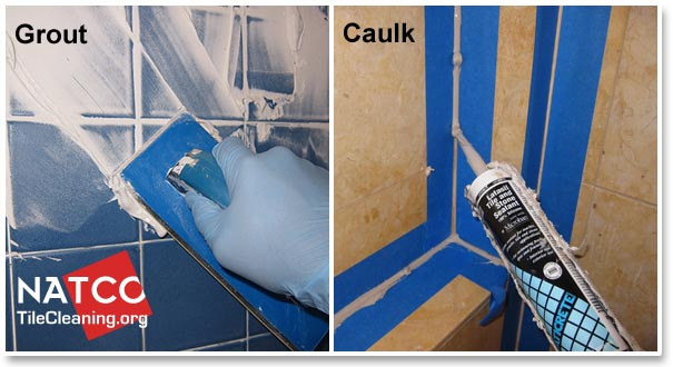 grout vs caulk in shower