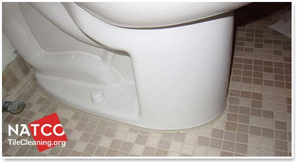 toilet with new caulk
