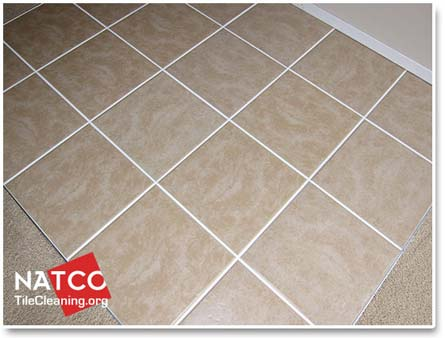 splotchy looking light colored grout