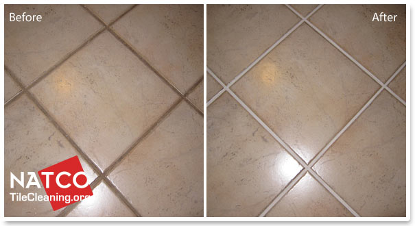 How to paint grout with a grout colorant for How to make grout white again