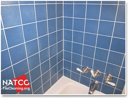 How To Professionally Regrout A Tile Shower - Cleaning dried grout off tile