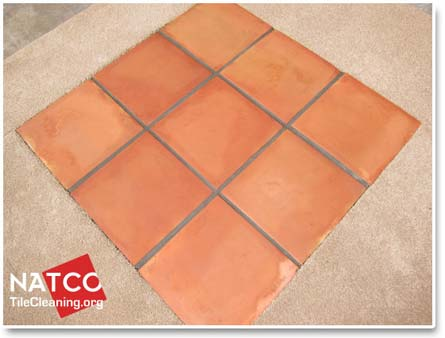 excess colorsealer on tile surfaces