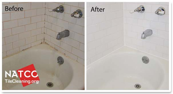 How to clean soap scum and stains in a bathtub for Best way to clean bathroom