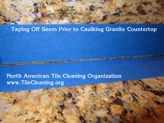 recaulk granite countertop