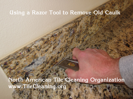 razor blade for removing caulk