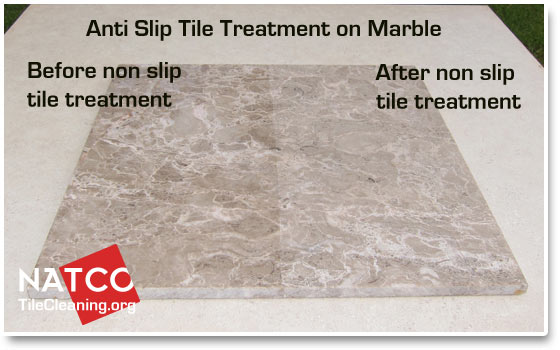 anti slip tile treatment on stone tiles