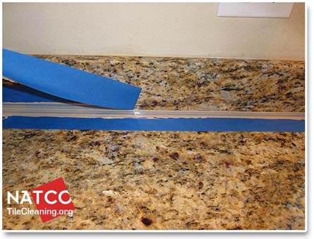 removing caulking tape - Removing Tile Backsplash