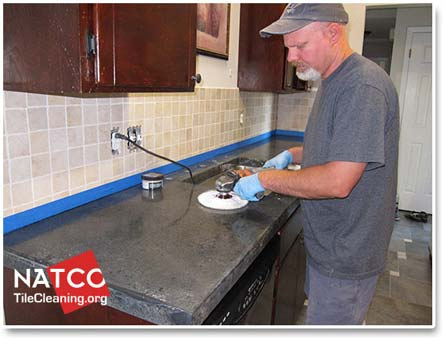 Attractive Buffing Concrete Countertop
