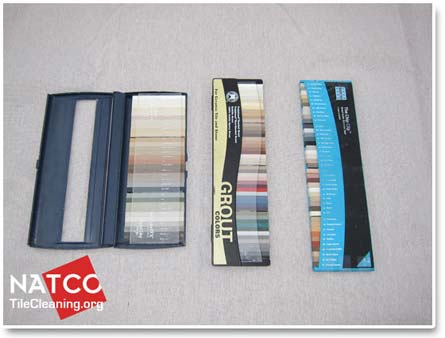tec custom polyblend and laticrete color charts