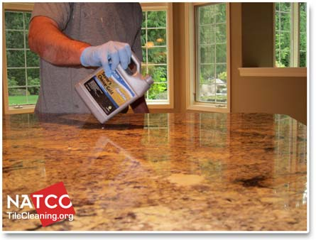 Lying A Sealer To Granite Countertop