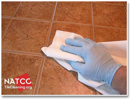 removing grout sealer haze