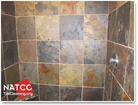 Sealed Slate Shower Tiles
